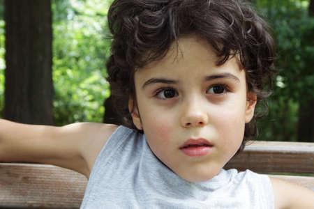 Portrait of an attractive boy  photo