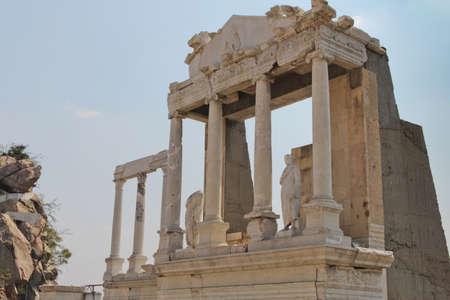 teatro antico: Siti archeologici, parte del teatro antico nella vecchia Plovdiv, Bulgaria