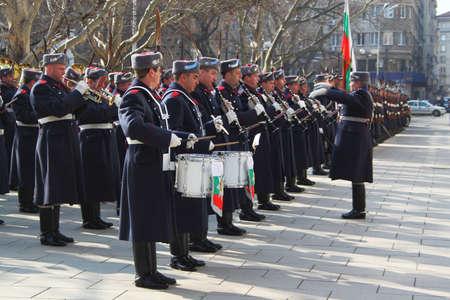 Bulgarian guard regiment salutes a new ambassador to Bulgaria, Sofia, 5. 03. 2013 Stock Photo - 18250770