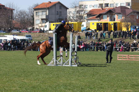 Traditional Annual horse ride to celebrate Theodore s day  Horse Easter  in Sofia, Bulgaria, 23 03  2013 Stock Photo - 18646513