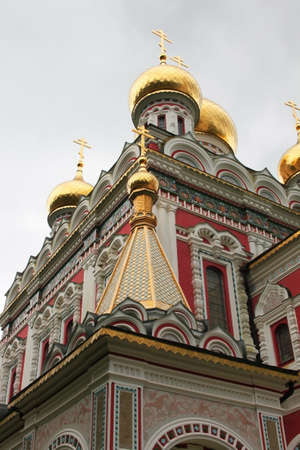 Detail of Russian church in Shipka town, Bulgaria photo