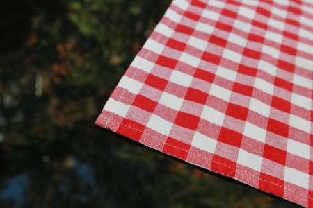 Tablecloth and reflection as background or texture photo