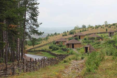 neolithic: Poblado neol�tico - museo en el campo b�lgaro Foto de archivo