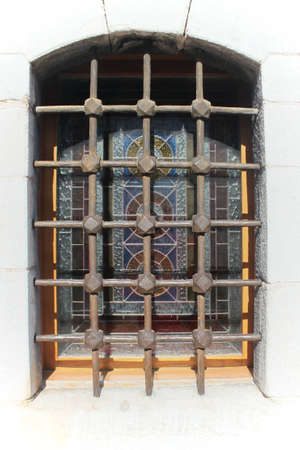 church window: Decorative church window, detail