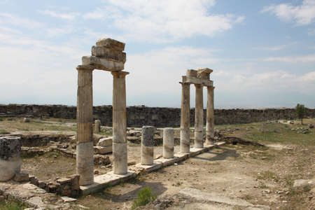 hierapolis: Ancient Hierapolis in Pamukkale, Turkey