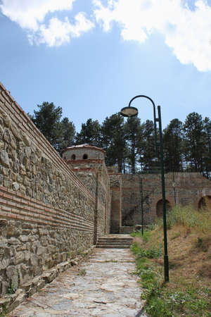 Hisarlaka Fortress near the town of Kyustendil in Bulgaria Stock Photo