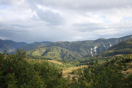 autumn colour: General view of Rodopi Mountains range in Bulgaria