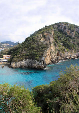 A picture of beautiful Paleokastritsa beach on Corfu Island