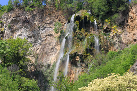 A picture of beautiful Polska Skakavitsa waterfall located in Zemen mountain in Bulgaria