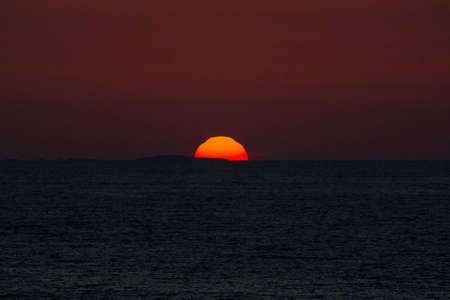 pacific ocean: Sunset on Pacific Ocean during summer in Puerto Vallarta, Mexico Stock Photo