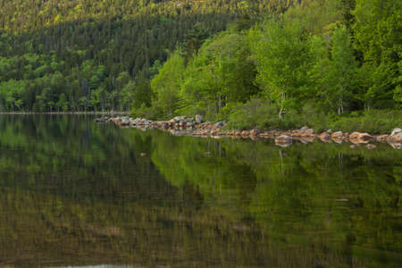 Reflections in Jordan Pond, Acadia National Park