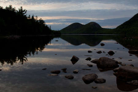 Dusk at Jordan Pond, Acadia National Park