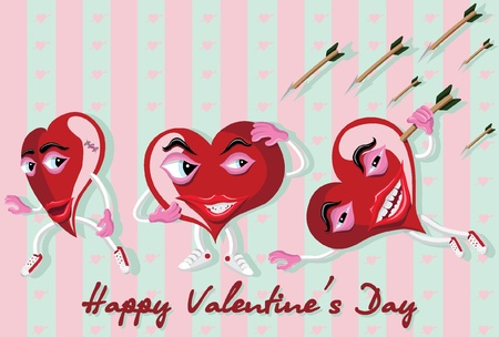 Happy valentines day card Illustration