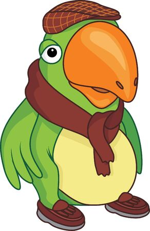 Cartoon parrot Stock Vector - 18655014