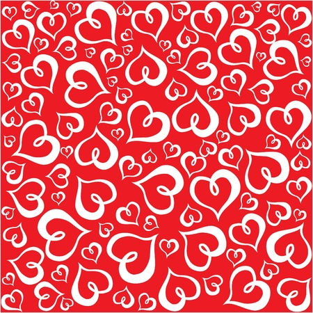 Valentine hearts pattern Stock Vector - 18655016