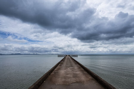 Jetty or quay in Koh Chang Island at Trad Province, Thailand photo