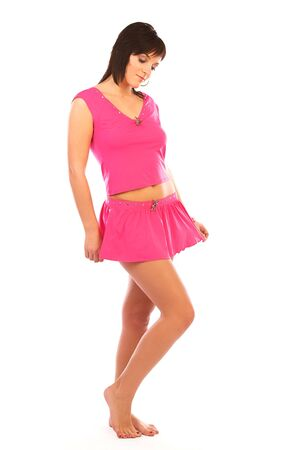 Beautiful girl in hot pink