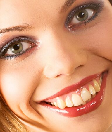 Smile of a beautiful young woman Stock Photo - 2042760
