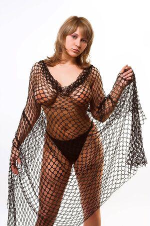 pretty female glamor modelrr Stock Photo