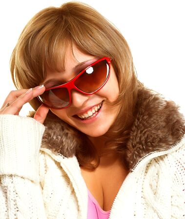 Happy blondy  with sunglasses Stock Photo - 2051633