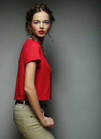 young fashion model. studio shot. Stock Photo