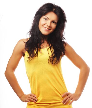 sports wear: Young happy woman in sports wear