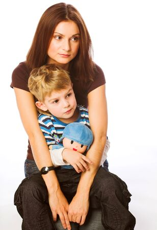 happynes: Mother together with the son, happy family
