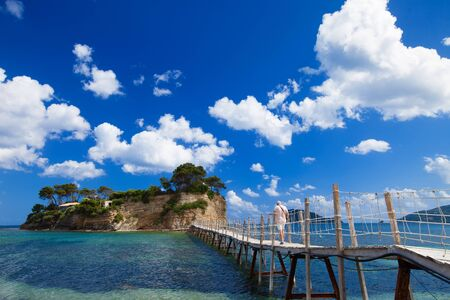 Travel and vacation concept - Zakynthos, a bridge to the island photo