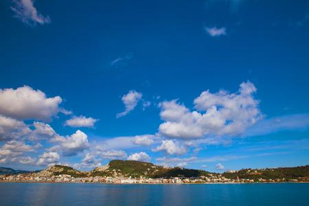 Summer day, Greece, Zakynthos island - sea, sky, vacation. photo