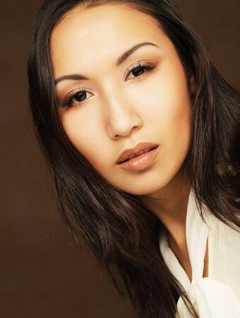asian girl portrait, fashion model, studio shot Zdjęcie Seryjne