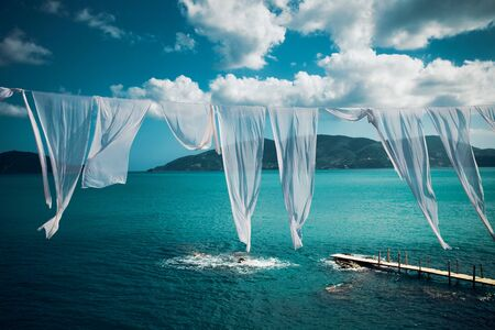 cameo: travel, vacation concept - Agios Sostis (Cameo), small island in Greece, Zakynthos