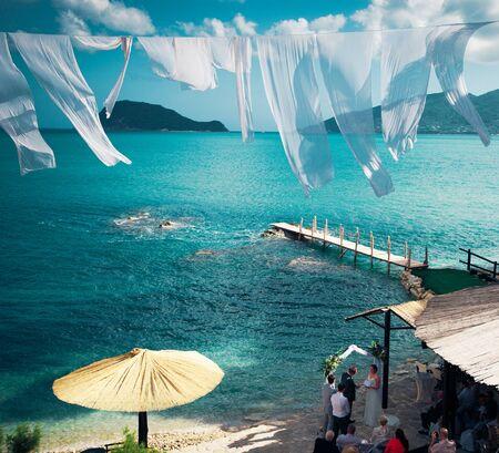 travel, vacation concept - Agios Sostis (Cameo), small island in Greece, Zakynthos photo