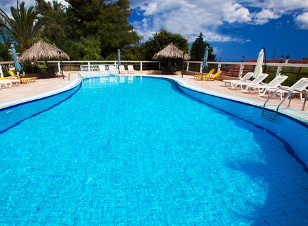 sante: Swimming pool at holiday villa in Greece.
