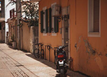 ramshackle: A typical street in Zante Town on the Greek island of Zakynthos