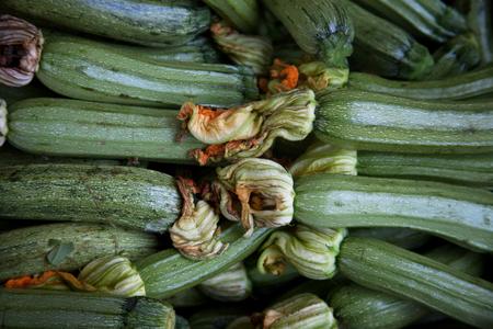 flowering kale: green vegetables in market, food background