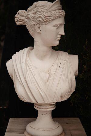 zakynthos: garden statue in greece, island Zakynthos
