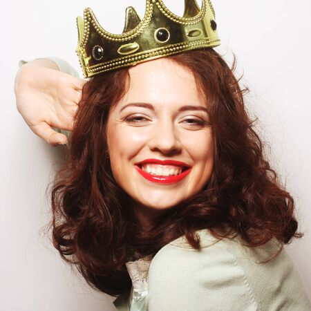 lovely: young lovely woman in crown