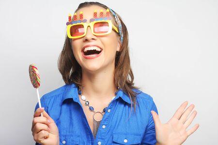 lolipop: Nice young girl with lolipop