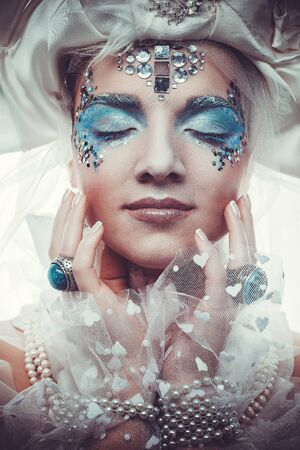 the snow queen: Snow Queen over white background Stock Photo