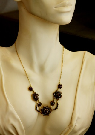 carbuncle: jewelry in store window , fashion shoot Stock Photo