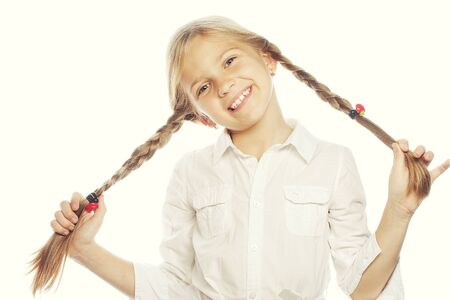 smile child: Little happy girl with big smile.Picture for dentistry.