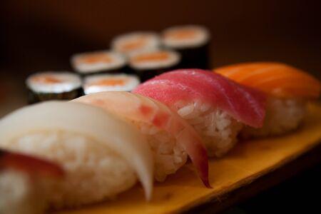 caffee: Tasty sushi in japanese restaraunt, caffee