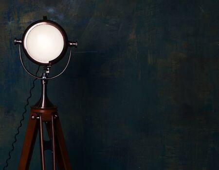 floor lamp: vintage floor lamp over old wall
