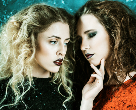 vogue style: Vogue style photo of two fashion ladies, cold tones
