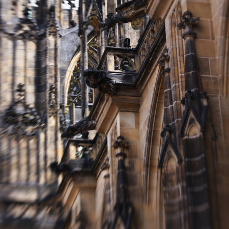 vitus: Cathedral church Sacred Vitus in Prague, Czech Republic ,special image processing Stock Photo