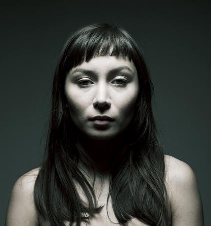 mysterious woman: Beautiful mysterious woman, dark style