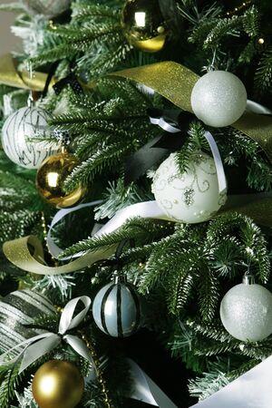 happy christmas: Christmas tree background. Happy New Year! Stock Photo