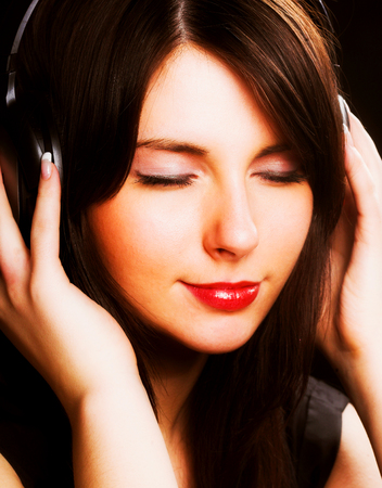 woman and music, young and beauty