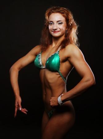 Sexy black female bodybuilder
