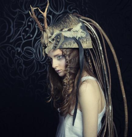 dult: Fashion portrait of beautiful female model